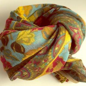 J.Jill 100% cotton scarf NWT